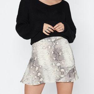 Snakeskin High Waisted Skirt